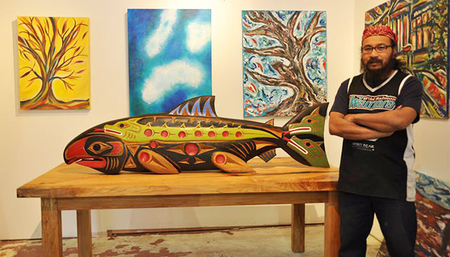 B.C. artist tackles complex issues of  mental health and aboriginal rights
